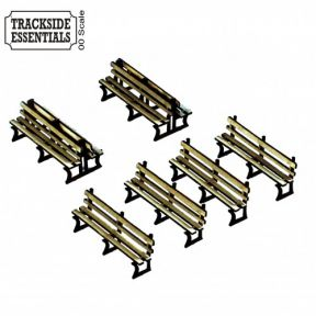 Red Iron Framed Benches x6