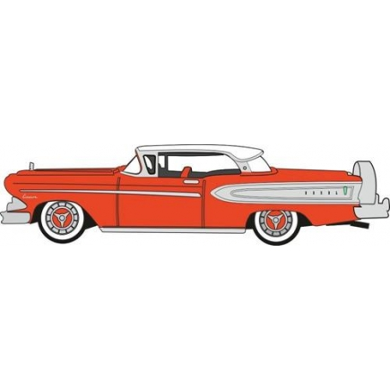 Oxford Diecast Edsel Citation 1958 Ember Red/Frost White