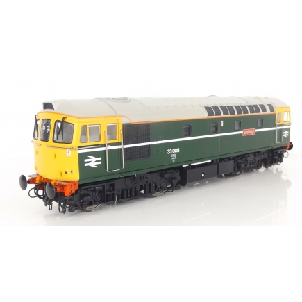 Heljan 3442 OO Gauge Class 33 33008 'Eastleigh' BR Greem Full Yellow Ends