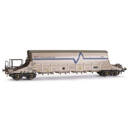 EFE Rail E87015 OO Gauge PBA Tiger Wagon TRL 11612 ECC International White Weathered
