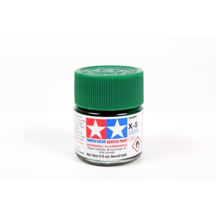 Tamiya X-5 Green Acrylic Paint 10ml