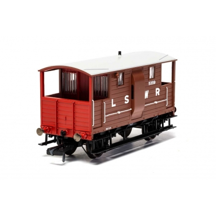 Hornby R6911A LSWR 20 Ton 'New Van' Brake Van LSWR Brown 5359
