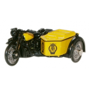 Oxford Diecast AA BSA Motorcycle and Sidecar