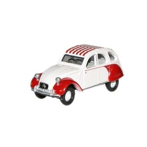Oxford Diecast Citroen 2CV - Dolly Red White