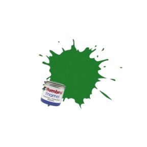 Humbrol No.131 Mid Green Satin Finish Enamel Paint 14ml Tinlet