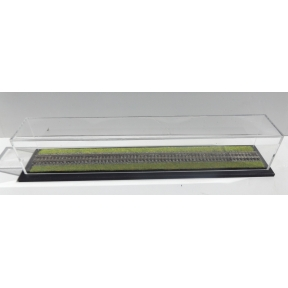 Display Case With Ballasted Track And Grass (305mm x 50mm x 50mm)