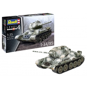 Revell 03319 German T34/85 Tank Plastic Kit