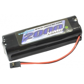 TX 9.6v 2000MAH NIMH Square Battery Pack With Futaba Connector