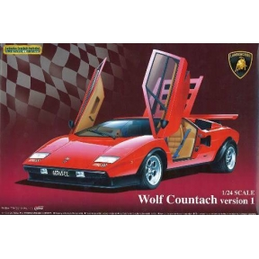 Aoshima 049600 Lamborghini Wolf Countach Version 1 Plastic Kit