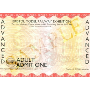 Bristol Model Railway Exhibition 2018 Adult Advanced Ticket