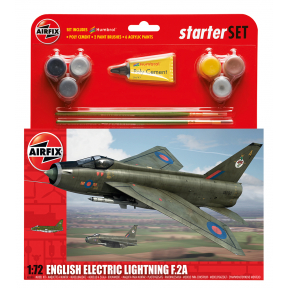 Airfix A55305 English Electric Lightning F2.a Plastic Kit Starter Set