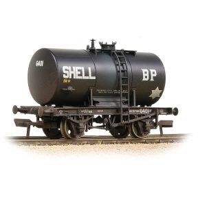 Bachmann 38-776A 20T Class B Anchor-Mounted Tank Wagon 'Shell BP' Black Weathered