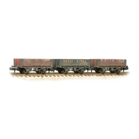 Graham Farish 377-065 Triple Pack 5 Plank Private Owner Wagons Weathered