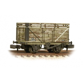Graham Farish 377-207 8 Plank Wagon Coke Rails Refurbished BR P No. (Ex-Private Owner) - Weathered