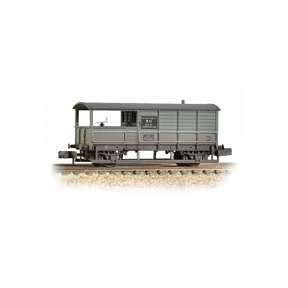 Graham Farish 377-376A 20T Toad Brake Van BR Grey Weathered
