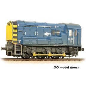 Graham Farish 371-015D N Gauge Class 08 08818 BR Blue Weathered