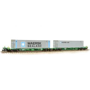 Graham Farish 377-369 FIA Intermodal Bogie Wagons With 'Maersk line' Containers