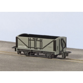 Peco GR-200U OO-9 Open Wagon L&B Grey Unlettered