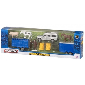 Farm Series Green Tractor and trailers