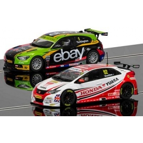 Scalextric BTCC Champions Twin Pack - BMW 125 Series 1 & Honda Civic