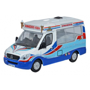 Oxford Diecast Dimascios Whitby Mondial Ice Cream Van