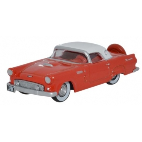 Oxford Diecast Ford Thunderbird 1956 Fiesta Red/Colonial White