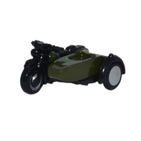 Oxford Diecast Motorbike & Sidecar 34th Armoured Brigade
