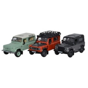 Oxford Diecast Land Rover Defender Heritage Set