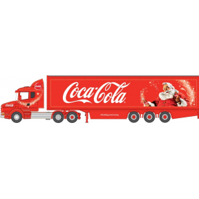Oxford Diecast Scania T Cab Box Trailer Coca Cola Christmas