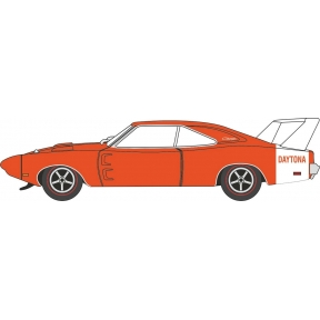 Oxford Diecast Dodge Charger Daytona 1969 Orange