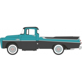 Oxford Diecast Dodge D100 Sweptside Pick Up 1957 Turquoise