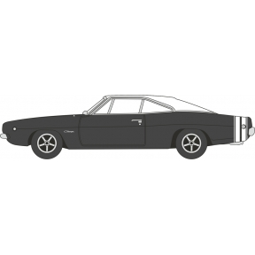 Oxford Diecast Dodge Charger 1968 Black/White