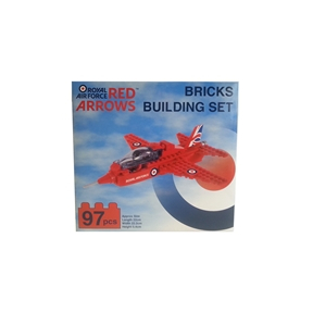 Red Arrows Building Blocks Plane