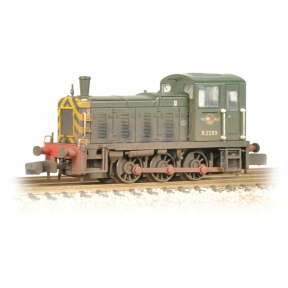 Graham Farish 371-063 Class 03 D2383 BR Green Wasp Stripes Weathered