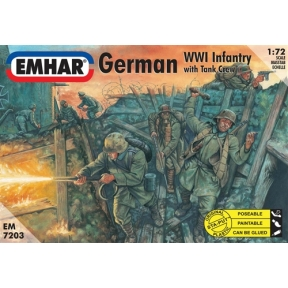 German Infantry & Tank Crew WWI Figures