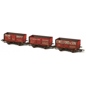 Oxford Rail OR76MW7029 7 Plank Private Owner Wagons Set Of Three