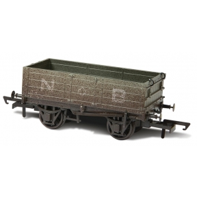 Oxford Rail OR76MW4001W 4 Plank Mineral Wagon 'North British' Weathered