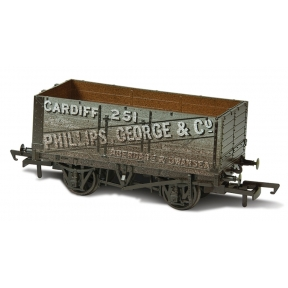 Oxford Rail OR76MW7019W 7 Plank Mineral Wagon 'Phillips George & Co 251'