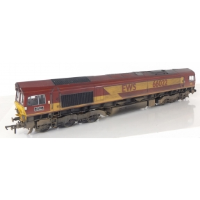 Bachmann 32-725DS Class 66 66022 'Lafarge Charnwood' EWS DCC Sound Weathered