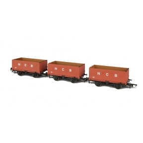 3 Pack NBC 7 Plank Open Coal Wagons