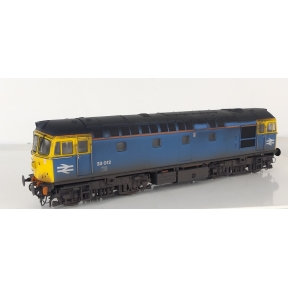 Heljan 3450 Class 33 33012 BR Faded Blue (Weathered)