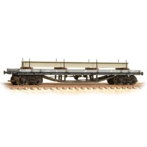 Graham Farish 373-929 N Gauge 30 Ton Bogie Bolster LMS Grey With Load