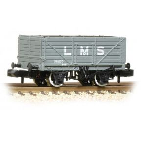Graham Farish 377-087 7 Plank End Door Wagon LMS Grey