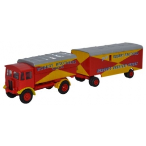 Oxford Diecast AEC Matador and Trailer Robert Brothers