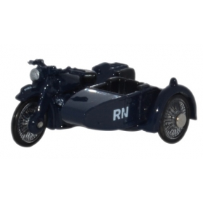 Oxford Diecast Motorbike & Sidecar Royal Navy