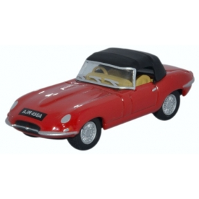 Oxford Diecast Jaguar E Type DHC Closed Carmen Red