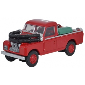 Oxford Diecast Red Land Rover Series II Fire Appliance