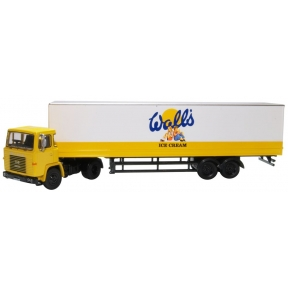 Oxford Diecast Walls Ice Cream Scania 110 40ft Box Trailer