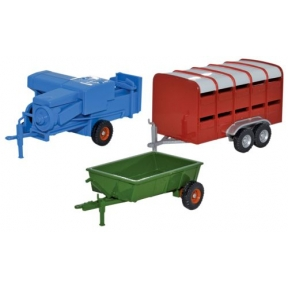 Oxford Diecast 3 Piece Farm Trailers