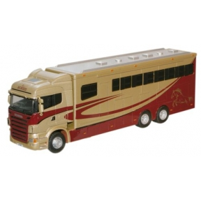 Oxford Diecast Metallic Scania Highline Horsebox